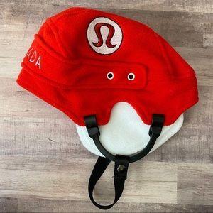 Lululemon Canada Red Hockey Helmet Hat